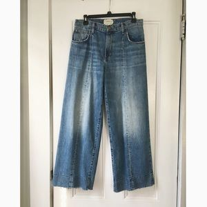 Current/Elliott Wide Leg Jeans